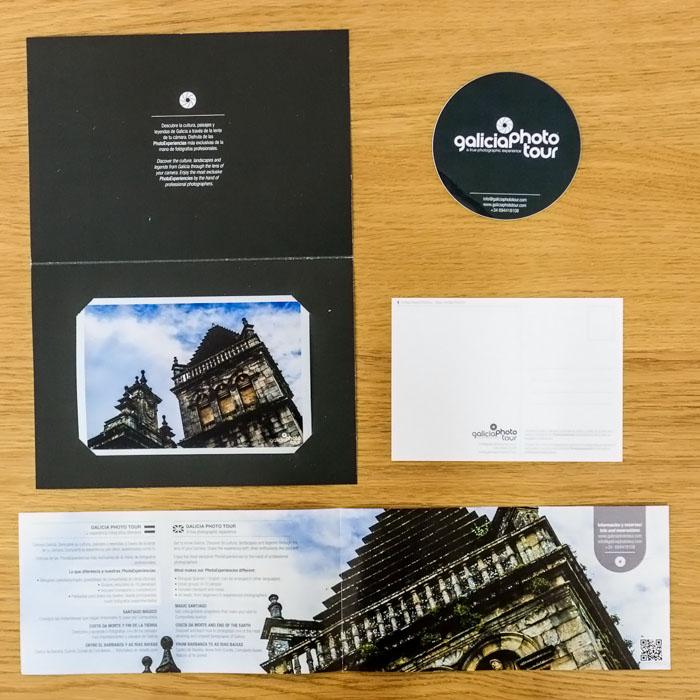 Materiais promocionais Galicia Photo Tour