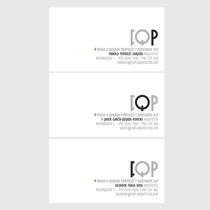 Tarxetas para FQP Arquitectos
