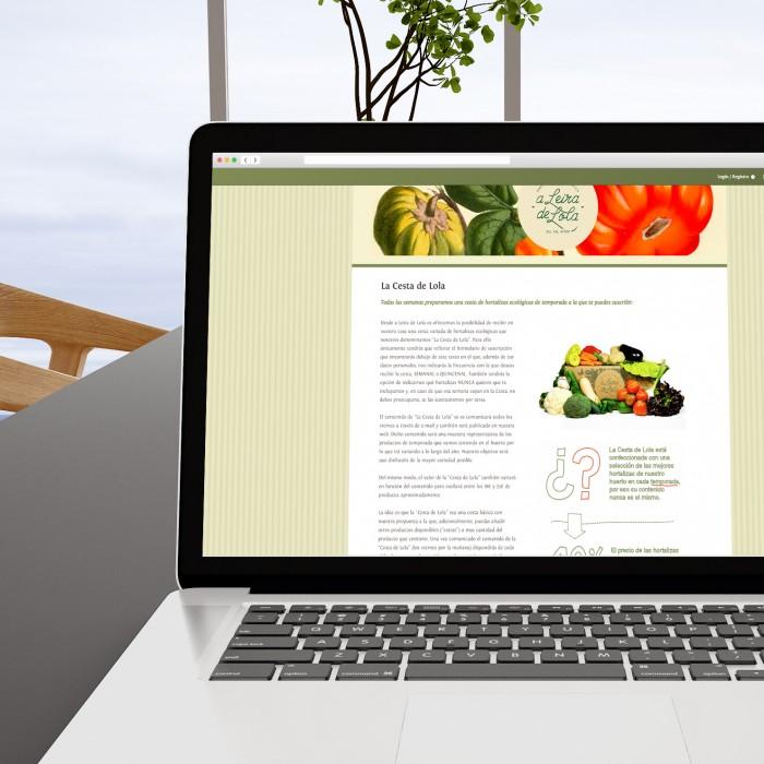 Web A Leira de Lola en laptop