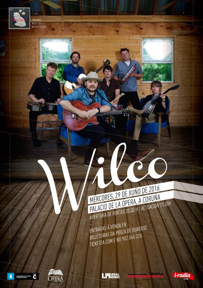 Cartaz Wilco. A Coruña