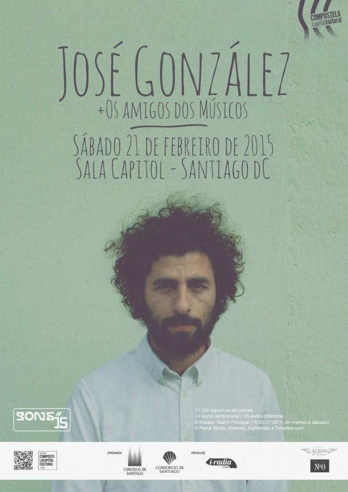 Cartaz José González. Santiago de Compostela