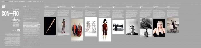 Platexamento web para a exposición Con-Fío en Galicia