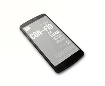 Web para a exposición Con-Fío en Galicia en smartphone