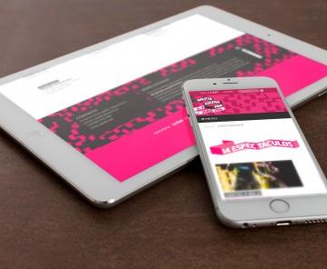 Web Galicia Escena PRO en tablet e smartphone