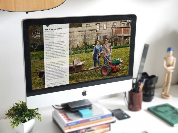 Web A Leira de Lola en tablet
