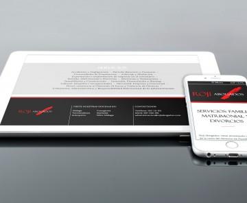 Web Roji Abogados en tablet e smartphone
