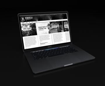 Web Riquela en laptop