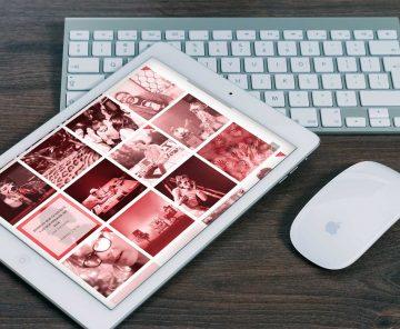 Web Escenas do Cambio en tablet