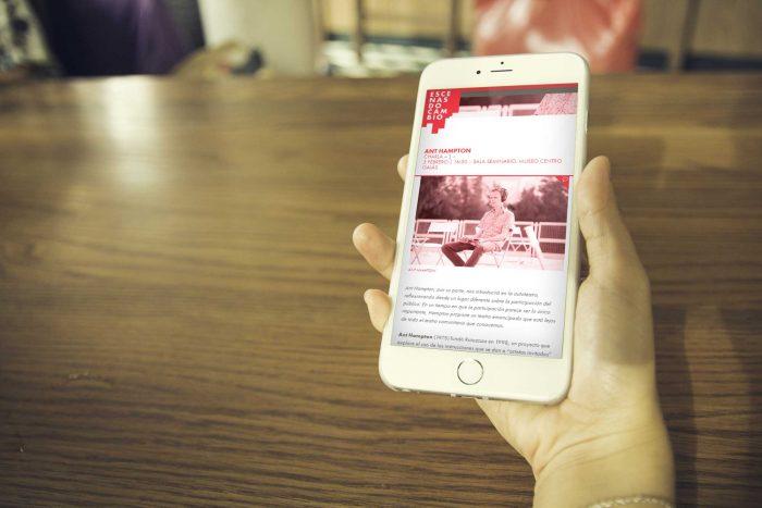 Web Escenas do Cambio en smartphone