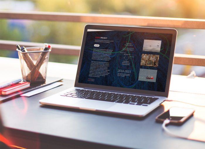 Web Future Oceans Lab en laptop