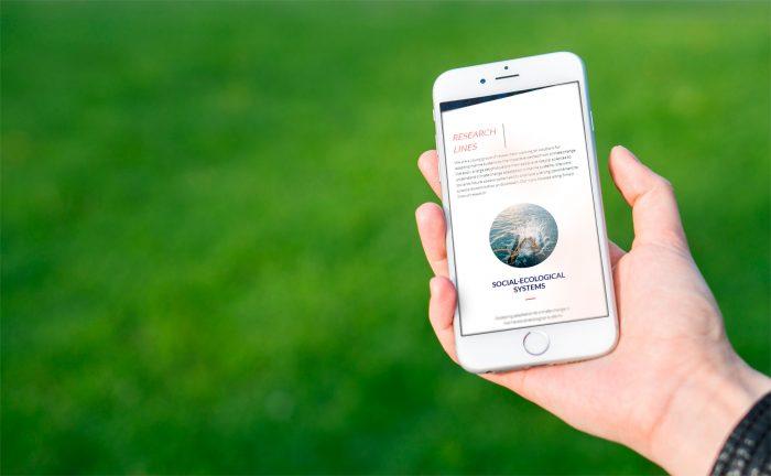 Web Future Oceans Lab en smartphone