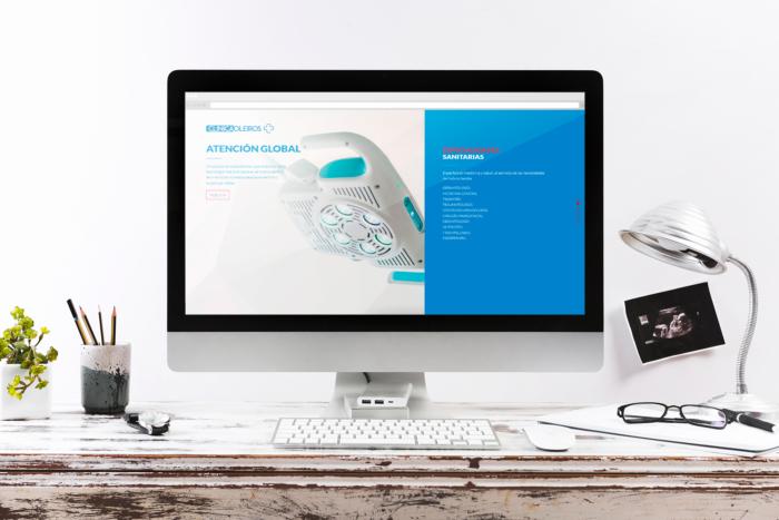 Web Clínica Oleiros en desktop