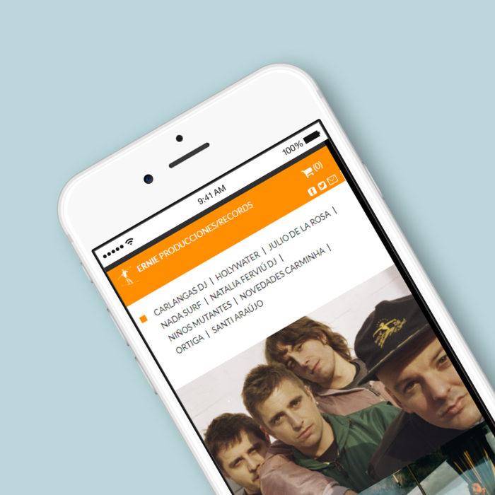 Web Ernie Producciones en smartphone